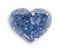 Blue diamond heart