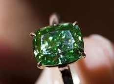 2.52 carat green diamond