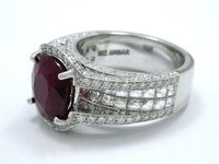 Cushion Cut 3.06 ct Ruby 1.09 ratio 2.17 BA-26