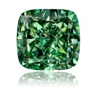 1.61 carat Cushion Vivid Green