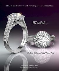 Bez Ambar Blaze and pave Ring