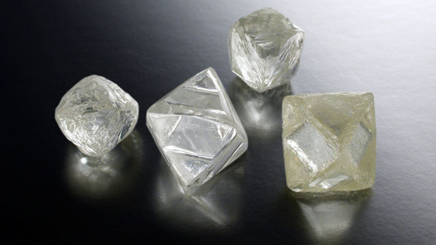 Rough diamond crystals