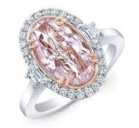 2.32 carat Fancy Pink Oval Ring