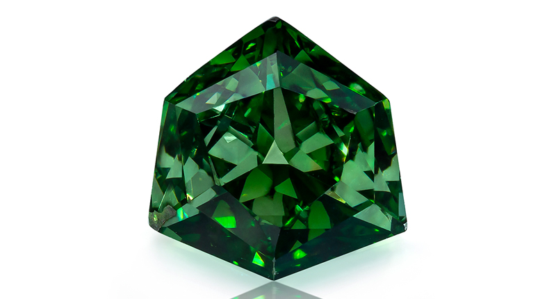0.58 carat Fancy Vivid Green diamond