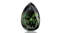3.08 carat Fancy Dark Gray-Greenish diamond