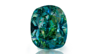 1.38 carat Fancy Vivid Bluish Green diamond