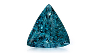 0.54 carat Fancy Intense Green-Blue diamond