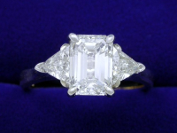 Emerald Cut 1.32 ct 1.42 ratio 0.46 TRIL AD-1sm