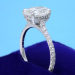 Oval Ring 2.01 ct 0.46 tcw pave ND-2