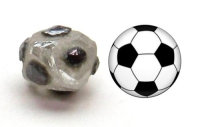 Soccer ball shaped diamond