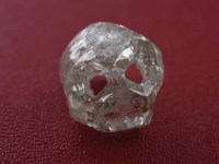 Skull shaped rough diamond