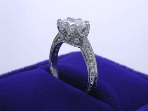 Cushion Cut Diamond Ring: 1.50 carat with Richard Landi Custom Mounting