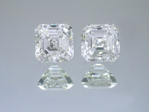 Asscher Cut Diamonds 3.42 tcw
