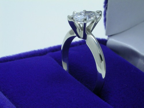 Marquise Cut Diamond Ring: 0.91 carat with 1.92 ratio in Solitaire style mounting