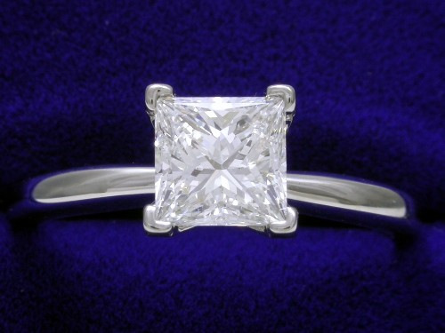Princess Cut Diamond Ring: 1.13 carat in a Solitaire style mounting