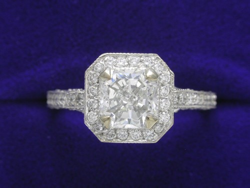 Radiant Cut Diamond Ring: 1.11 Carat Richard Landi Mounting