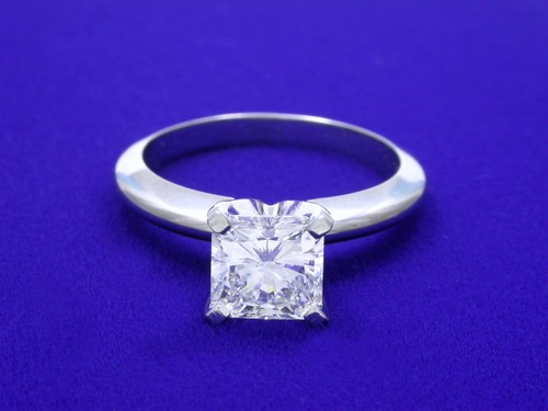 Radiant Cut Diamond Ring: 1.20 carat with 1.00 ratio in Solitaire style mounting
