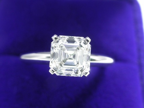 Asscher Cut Diamond Ring: 1.54 carat in Solitaire style mounting